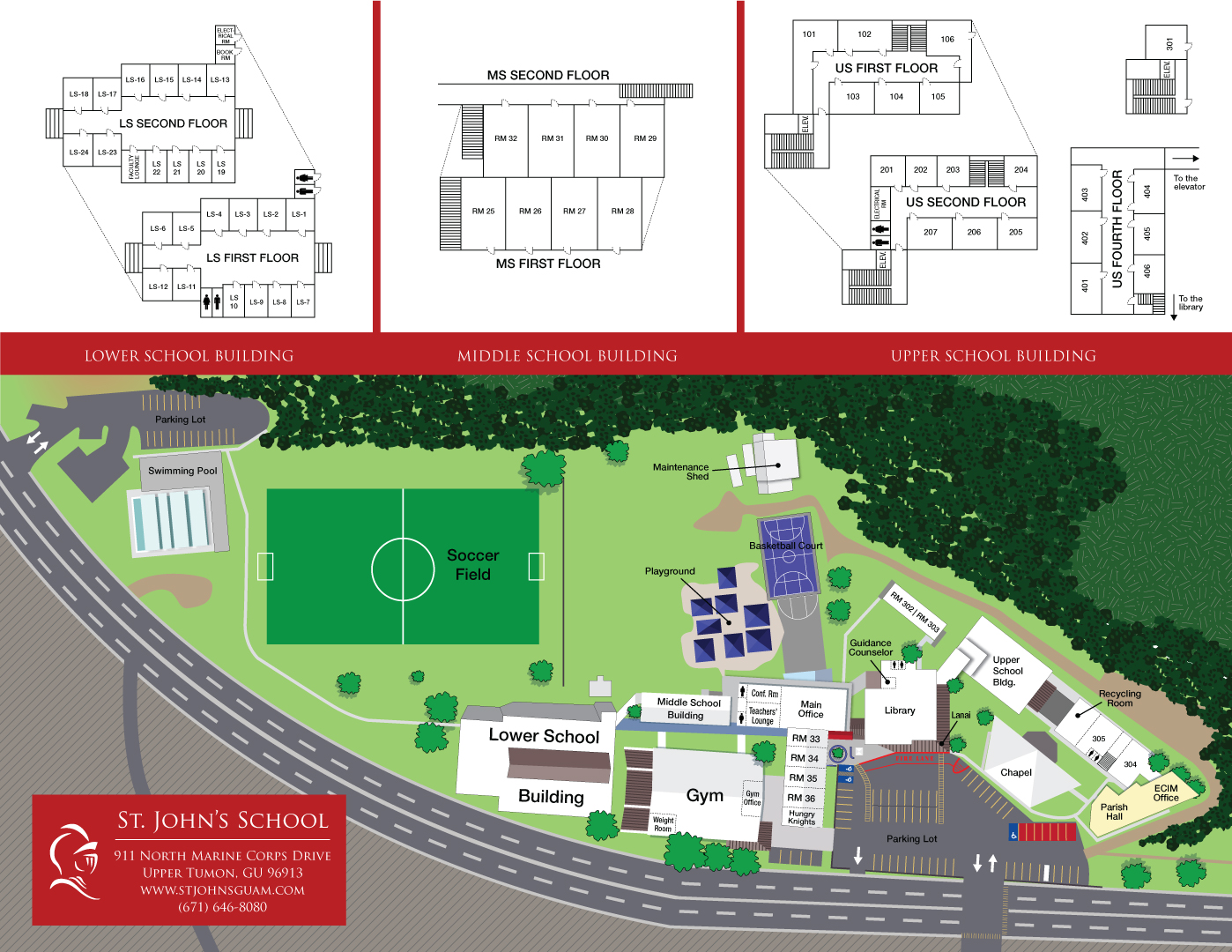 St Johns Campus Map.Campus Facilities St John S School